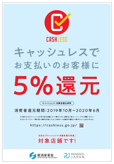 キャッシュレス・消費者還元事業 対象店舗
